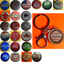 Miami marlins Baseball Coke Sprite Diet pepsi & more Soda beer cap Keychain