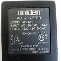 Uniden AC Adapter Model AD-140U Power Supply - $13.43