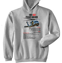 Pave Hawk HH-60 Helicopter - New Cotton Grey Hoodie - $39.75