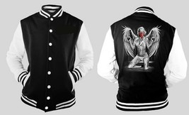 Sexy Marline Monroe With Angle Wings Letterman Varsity Baseball Fleece Jacket - $28.70