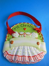 First Christmas Ornament Child or Infant Handcrafted Porcelain 4.5 inch ... - $8.90