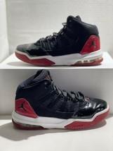 2018 Nike Jordan Max Aura Black Gym Red Sneakers 6Y AQ9214-006 - $40.00