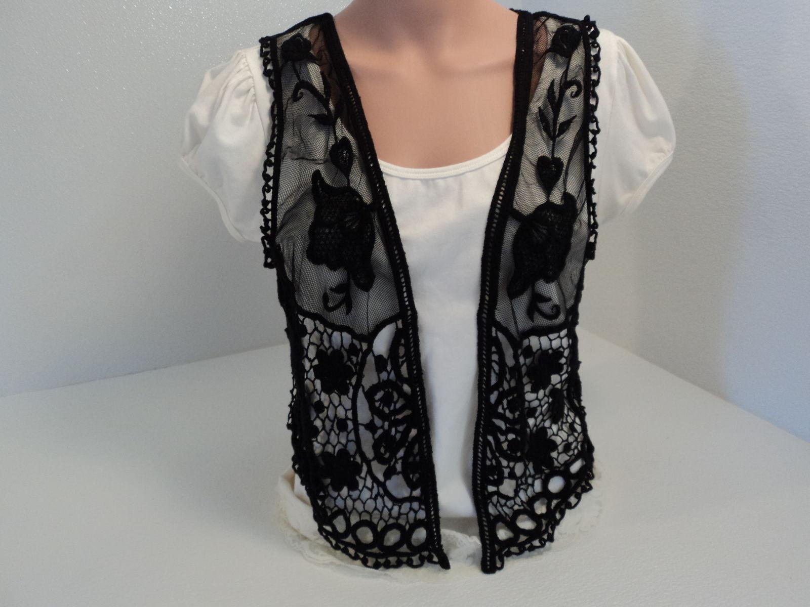 Indigo Lightweight Vest Lace Black Polyester Female M