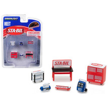Greenlight Muscle Shop Tools STA-BIL and HEET 6 piece Set 1/64 by Greenlight 131 - $13.62