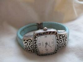 Geneva Blue & Silver Toned Analog Cuff Band Wristwatch - $29.00