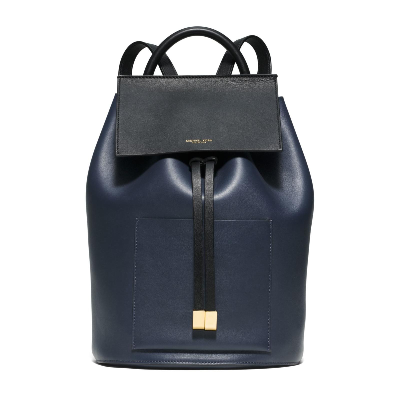 "Michael Kors ""Miranda"" Indigo French Calf Leather Backpack"