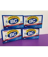 4 Pack of 50 Power Stick Packs BC Fast Pain Relief Exp. 2022 NEW Sealed - $28.70