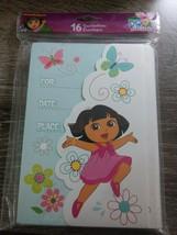New America Greetings Dora The Explorer 16 Party Invitations W/Envelopes - $7.80