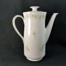 Johann Haviland Forever Spring Coffee Pot Bavaria Germany Pink Blue Whit... - $43.36