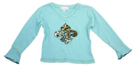 5 Authentic Trish Scully Leopard Faux Fur Skirt Teal Satin Trim Fleur De Lis Top image 5