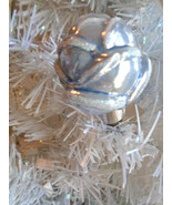 Lt. Blue Rose Rosebud Glass Christmas Clip-On Ornament Tree Birthday Sha... - $7.99