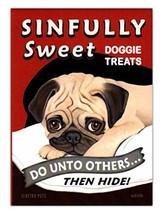 Retro Dogs Refrigerator Magnets - Pug Doggie Treats - Vintage Advertisin... - €7,51 EUR