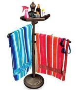 Beach Towel Rack Stand Swimming Pool Accessories Hot Tub Holder Free Sta... - $62.59 CAD