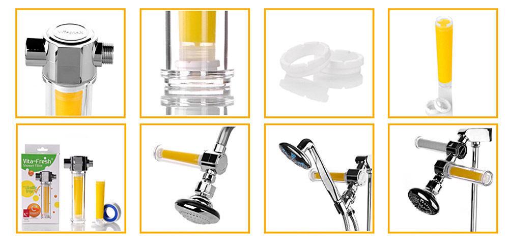 VitaFresh Vita Gel Shower Filter Vitamin C Gel shower Cartridge UBS
