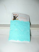 Lace BOOT CUFFS Leg Topper Mint Green Stretch Misses am - $3.99