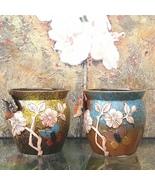 Large Handmade Embossed Butterfly Ceramic Plant Pot Flower Vase Indoor P... - $39.95+