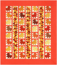"Quilt Kit - 58.5""x 67"" Autumn Bliss Kona Fall Leaves Leaf Quilting Kit M... - $54.97"