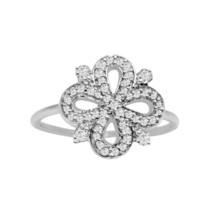 Cubic Zirconia Gemstone 925 Silver Infinity Flower Statement Cluster Wom... - $4.69