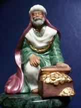 Vintage Hallmark 1999 Christmas Nativity Kneeling Figurine Caspar The Wise Man. - $14.70