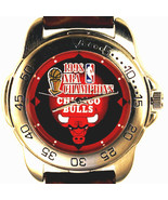 Chicago Bulls NBA Champions 1998 Sportivi New Unworn Mans Leather Watch ... - $78.06