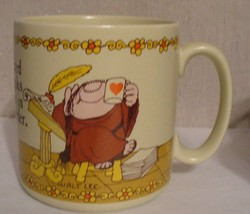 Sherman Mount Mug Monk God Coffee Japan Mouse Stoneware Walt Lee Greetings - $3.19