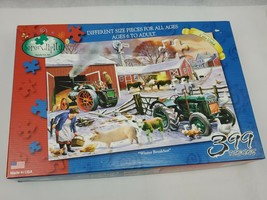 Winter breakfast by Kevin Walsh 399 pc puzzle serendipity farm animals winter - $12.00
