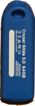 SanDisk Cruzer Glide Drive, 64 GB Flash Drive USB 3.0 - Blue - $13.99