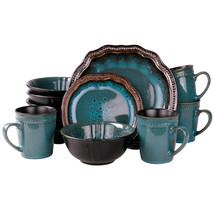 Elama's Mystic Waves 16 Piece Dinnerware Set - $85.35