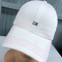 Tommy Hilfiger Bedazzled Strapback Beat Up Baseball Cap Hat - $13.75