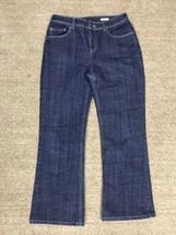 Jones New York Womens 4 Jeans Stretch Denim Blue - $9.89