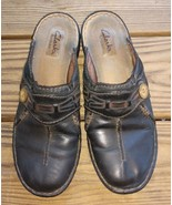 Clarks Size 7.5 M Artisan 82710 Casual Button Wedge Slides Clog Mules Wo... - $28.25