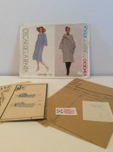 Vogue Sewing Pattern 1785 Vtg Oscar De La Renta 8 Dress Shawl 1970s Labe... - $17.14
