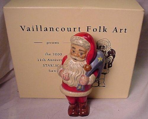 Vaillancourt Folk Art 11TH Starlight Santa in Box Retired!