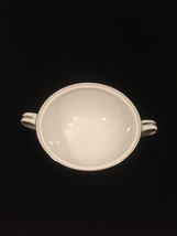 50s Noritake Colony pattern 5932 handled sugar bowl - platinum trim - no lid image 2