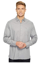 Tommy Bahama Men's Capeside Herringbone Shirt, Pebble Gray, Size M, MSRP $110 - $49.49