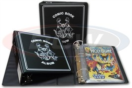 "CASE 12 BCW 3"" ALBUM - COMIC - BLACK - Heavy Duty D-ring Binder  - $74.09"