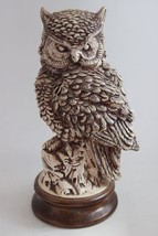 Vintage Hand Made Signed Ceramic Owl Sculpture Highly Detailed - $89.10