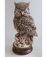 Vintage Hand Made Signed Ceramic Owl Sculpture Highly Detailed - $89.10