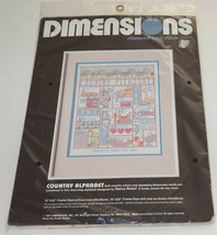 NEW Dimensions Stamped Cross Stitch Kit Country Alphabet 3074 - $29.65