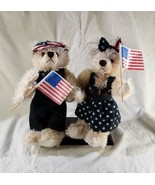 """10"""" Handmade Toy Bears Wearing USA Themed Clothing Includes Display Stand - $25.00"""