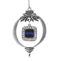 Inspired Silver Georgia Thin Blue Line Classic Holiday Ornament - $14.69