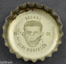 Vintage Coca Cola NFL Bottle Cap Cleveland Browns Gene Hickerson Coke Ki... - $4.99