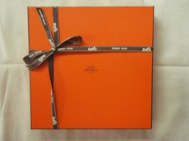 Hermes scarf box with ribbon square, empty, gift quality #018 - $36.62