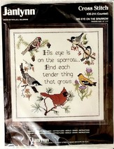 Janlynn 12x12 Sealed Vintage 1987 His Eye is on the Sparrow Cross Stitch New - $12.99