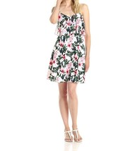2829 Vince Camuto Womens Jungle Lily Flared Dress with Crop Overlay Whit... - $37.02
