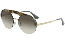NEW PRADA SUNGLASSES PR52US SZ60A7 PALE GOLD/MEDIUM HAVANA/GREEN 37MM - $213.82
