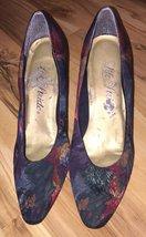 Life Stride Vintage Shoes Size 8N Floral Tapestry Elegant - $29.99