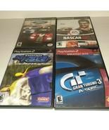 PlayStation 2 Auto Racing Game Bundle Nascar Gran Turismo Ford Tokyo Xtreme - $19.80