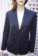 GAP Navy Blue/Gray Pinstripe Stretch Wool Blend Lined Dress Jacket (2) NEW - $39.10