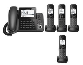 Panasonic KX-TGF383M Link2Cell Bluetooth 1 Corded 4 Cordless Phones w/ A... - $169.90